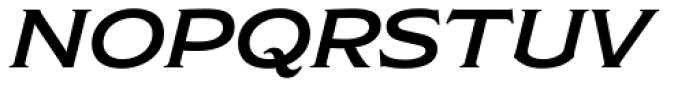 Modesto Lite Expanded Italic Font UPPERCASE
