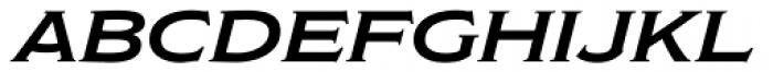 Modesto Lite Expanded Italic Font LOWERCASE