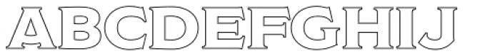 Modesto Open Outline Font LOWERCASE