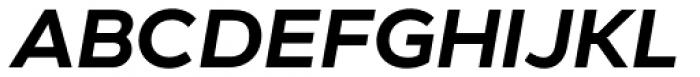 Modica Semi Bold Italic Font UPPERCASE