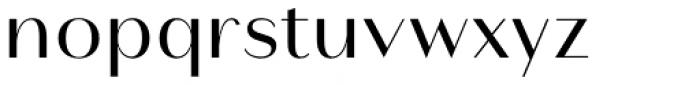 Modny Regular Font LOWERCASE