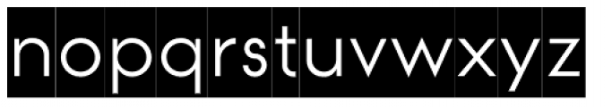 Modular Sans Roman0 Font LOWERCASE