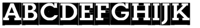 Modular Slab Bold0 Font UPPERCASE