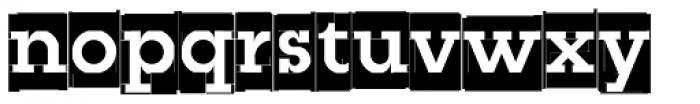 Modular Slab Bold0 Font LOWERCASE