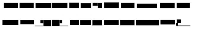 Modular Slab Bold4 Font LOWERCASE