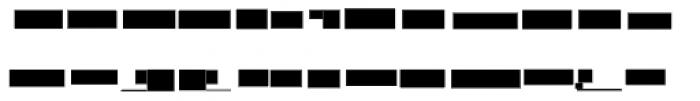 Modular Slab Roman4 Font LOWERCASE