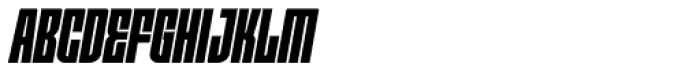 Moho OT Condensed Black Italic Font UPPERCASE
