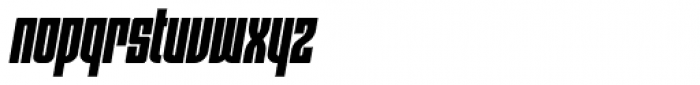 Moho OT Condensed Black Italic Font LOWERCASE