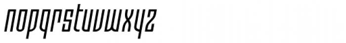 Moho OT Condensed Italic Font LOWERCASE