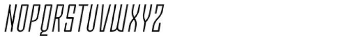 Moho OT Condensed Light Italic Font UPPERCASE