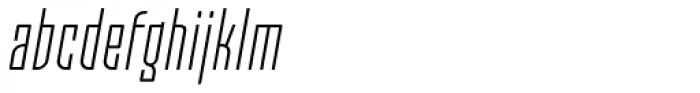 Moho OT Condensed Light Italic Font LOWERCASE