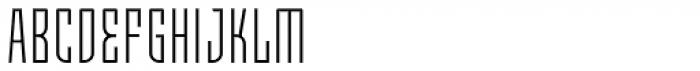 Moho OT Condensed Light Font UPPERCASE