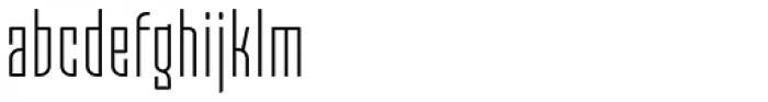 Moho OT Condensed Light Font LOWERCASE