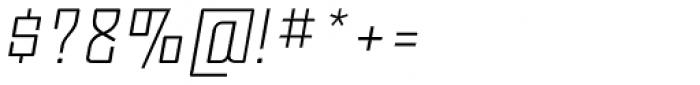 Moho OT Light Italic Font OTHER CHARS