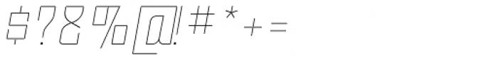 Moho OT Thin Italic Font OTHER CHARS