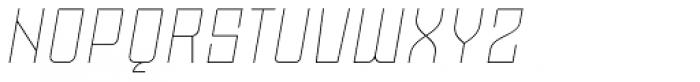 Moho OT Thin Italic Font UPPERCASE