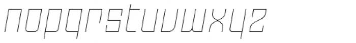Moho OT Thin Italic Font LOWERCASE
