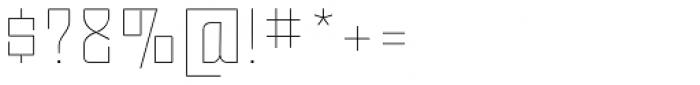 Moho OT Thin Font OTHER CHARS
