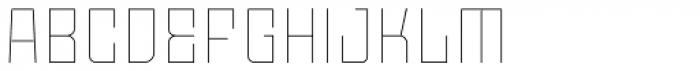 Moho OT Thin Font UPPERCASE