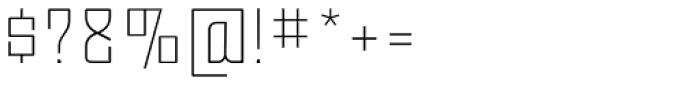 Moho OT Ultra Light Font OTHER CHARS