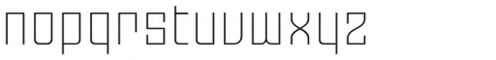 Moho OT Ultra Light Font LOWERCASE