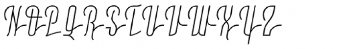 Moho Script Light Font UPPERCASE
