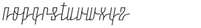 Moho Script Light Font LOWERCASE