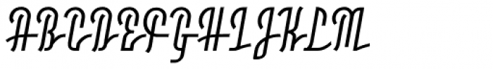 Moho Script Medium Font UPPERCASE