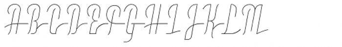 Moho Script Thin Font UPPERCASE