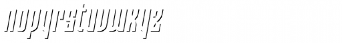 Moho Shadow Pro Italic Font LOWERCASE