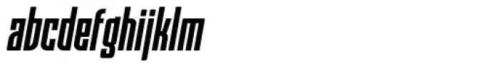 Moho Std Condensed Bold Italic Font LOWERCASE