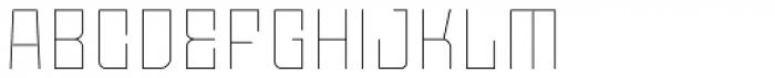 Moho Std Thin Font UPPERCASE