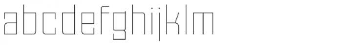 Moho Std Thin Font LOWERCASE