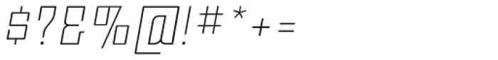 Moho Std Ultra Light Italic Font OTHER CHARS