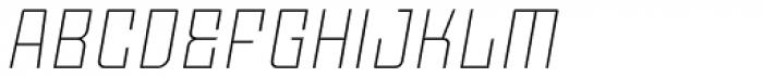 Moho Std Ultra Light Italic Font UPPERCASE