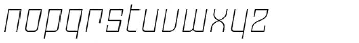 Moho Std Ultra Light Italic Font LOWERCASE