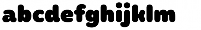 Mohr Rounded Heavy Font LOWERCASE