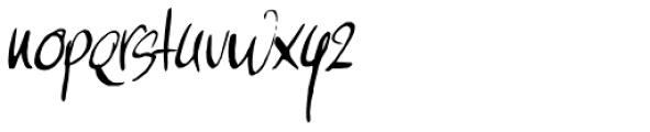 Moi Non Plus Italic Font LOWERCASE