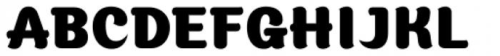 Moku Brush Black Font UPPERCASE
