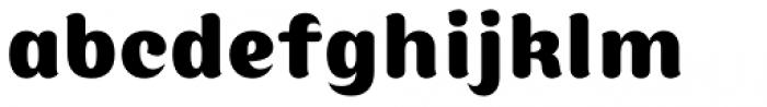 Moku Brush Extra Bold Font LOWERCASE