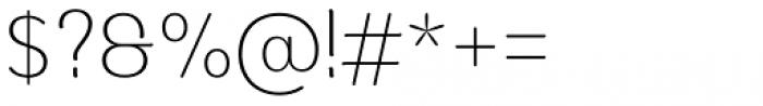 Moku Brush Extra Light Font OTHER CHARS