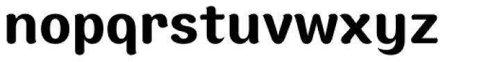 Moku Brush Semi Bold Font LOWERCASE