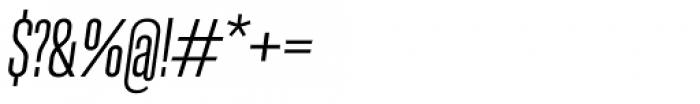 Molde Compressed Medium Italic Font OTHER CHARS