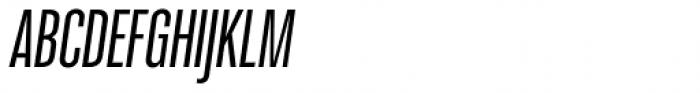 Molde Compressed Semibold Italic Font UPPERCASE