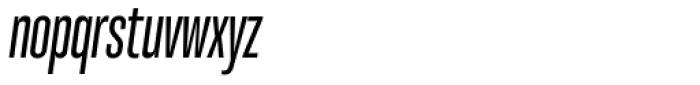 Molde Compressed Semibold Italic Font LOWERCASE