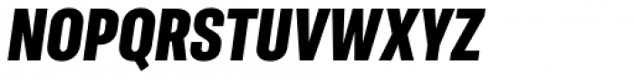 Molde Condensed Heavy Italic Font UPPERCASE