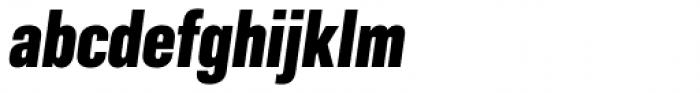Molde Condensed Heavy Italic Font LOWERCASE
