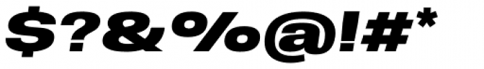 Molde Expanded Black Italic Font OTHER CHARS