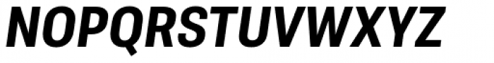 Molde Semi Condensed Bold Italic Font UPPERCASE