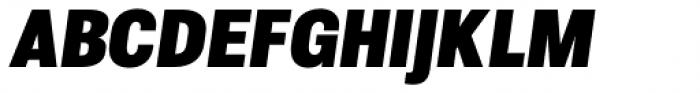 Molde Semi Condensed Heavy Italic Font UPPERCASE